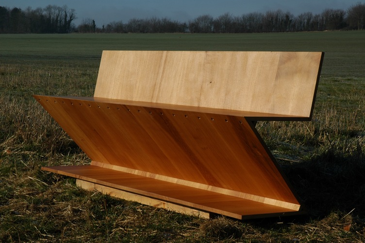 Oak bench based on Rietveld deisgn