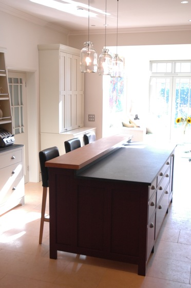 Kitchen island and cupboards