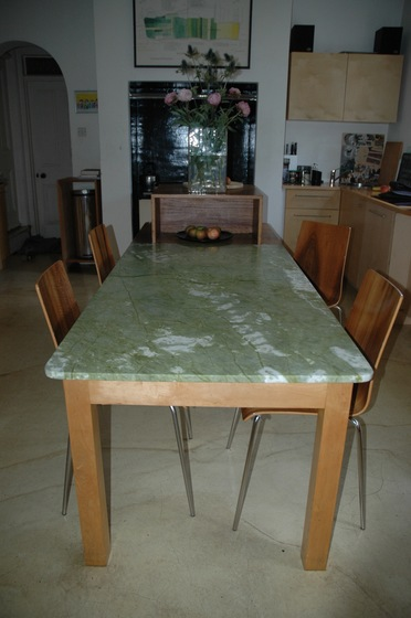 Kitchen table with marble top
